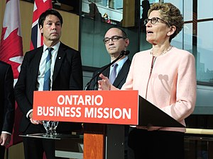 Centre for Israel and Jewish Affairs - Image: K Wynne Ontario Business Mission