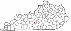 Location of Horse Cave, Kentucky