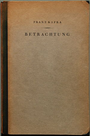 Contemplation (short story collection) - Betrachtung, first edition, 1912