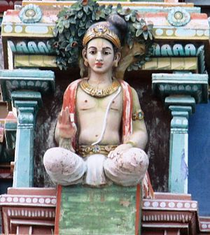 Nammalvar - Stucco image of Nammazhwar in Kalamegha Perumal temple