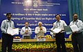 Kapil Sibal at the signing ceremony of the Tripartite MoU on Right of Way for National Optical Fibre Network between GOI, State Government and BBNL, in New Delhi on April 12, 2013.jpg