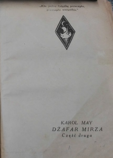 File:Karol May - Dżafar Mirza II.djvu