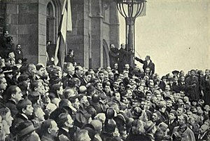 First Hungarian Republic - Proclamation of the people's republic on 16 November 1918.