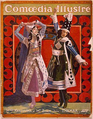 "Adolph Bolm - Karsavina and Bolm in ""Thamar"", 1912"