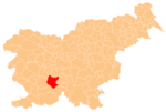 Location of the Municipality of Cerknica