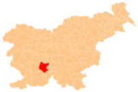 Location of the Municipality of Cerknica in Sl...