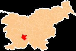 Vị trí của Cerknica ở Slovenia
