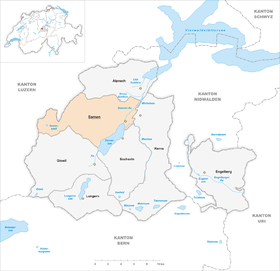 Karte von Sarnen