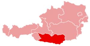 Klagenfurt-Land District - Image: Karte oesterreich kaernten