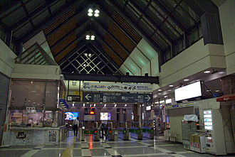 Karuizawa Station - Shinkansen gate (from inside)