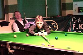 Ken Doherty tijdens de Swiss Open in 2005