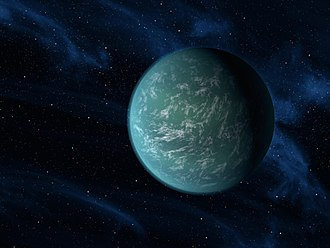 Geodynamics of terrestrial exoplanets - Artistic sketch of Kepler-22b, a recently discovered exoplanet with comparable mass (within 10 Earth masses) of the planet Earth.