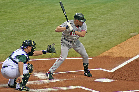 Youkilis batting against the Tampa Bay Devil Rays in April 2006 KevinYouklis.jpg