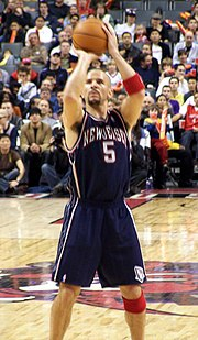 Jason Kidd wore the number five on his jersey while playing in the NBA.