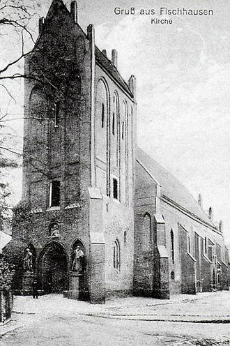 Primorsk, Kaliningrad Oblast - Fischhausen church, about 1930