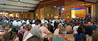 Taizé Community - Prayer in the Church of Reconciliation at Taizé