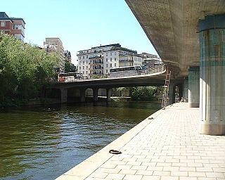 viaduct in central Stockholm, Sweden