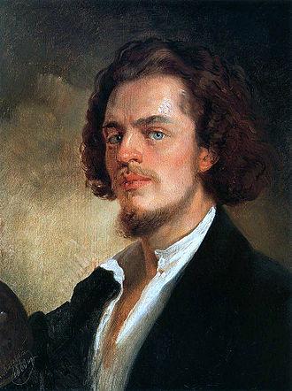 Konstantin Makovsky - Self-Portrait, c. 1856