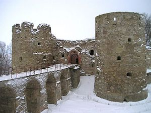 Koporye - Entrance to Koporye Fortress.