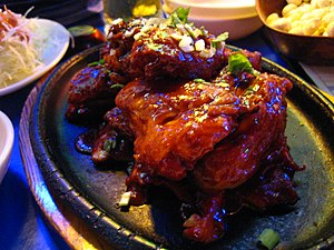 Yangnyeom chicken, Korean style fried chicken