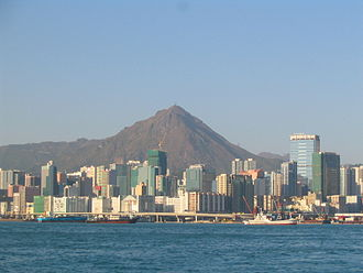 Kowloon Peak - Kowloon Peak and Kwun Tong from Hong Kong Island.