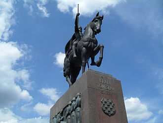 Croatian nationalism - Statue of King Tomislav in Zagreb, Tomislav was the first Croatian king.