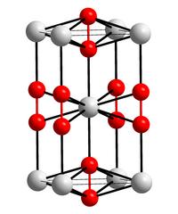 Kristallstruktur von Bariumperoxid