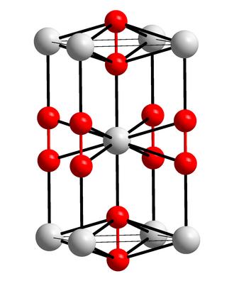 Calcium carbide - Image: Kristallstruktur Bariumperoxid