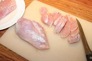Fillet (cut) - Image: Kycklingfilé