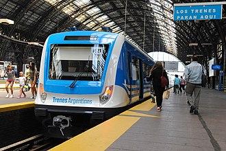 CSR EMU (Argentina) - A CSR EMU at Retiro Mitre railway station