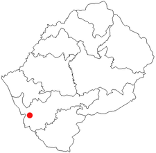 Location of Mohale's Hoek in Lesotho