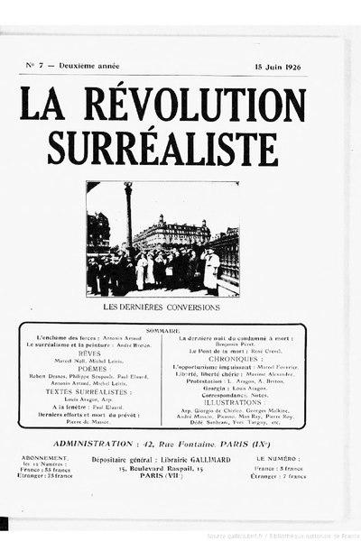File:La Révolution surréaliste, n07, 1926.djvu