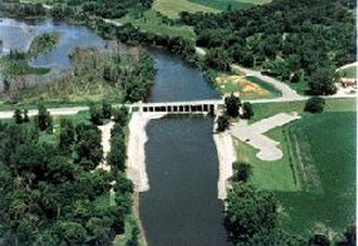 Lac qui Parle - Dam located on the southern tip. Source: US Army Corp of Engineers