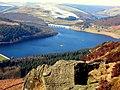 Ladybower Reservoir from Bamford Edge - geograph.org.uk - 1081360.jpg