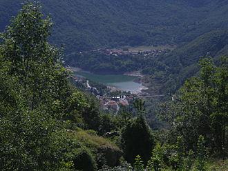 Garfagnana - The Lago di Vagli, an artificial lake