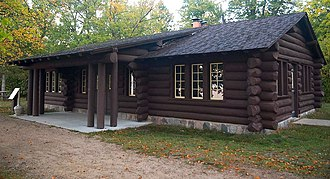 Lake Bemidji State Park - The Shelter Building from the southeast