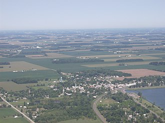 Lakeview, Ohio - Lakeview from the east