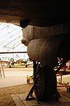 Lancaster FM136 right undercarriage at Aero Space Museum of Calgary Flickr 6202268460.jpg