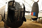 Lancaster FM136 tail turret at Aero Space Museum of Calgary Flickr 6201755769.jpg