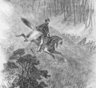 Battle of Philippi (West Virginia) - Daring ride on horseback of Col. Fredrick West Lander, June 30, 1861