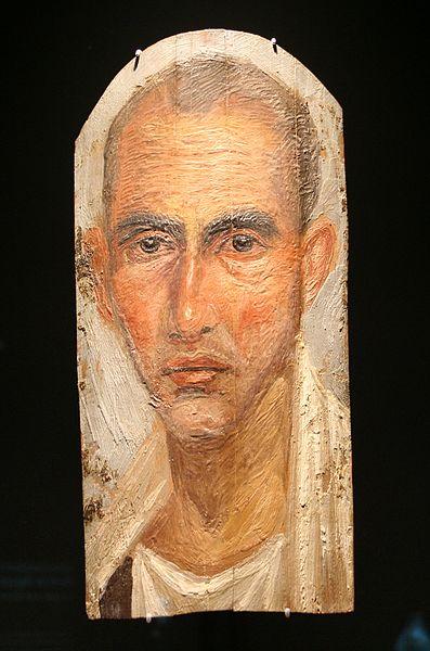 Фаюмские портреты. Египетский музей и собрание папирусов 1 век.
