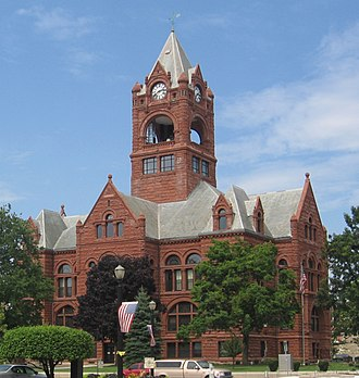 LaPorte County, Indiana - LaPorte County Courthouse in La Porte, Indiana