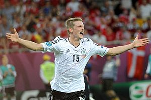 Lars Bender - Lars Bender celebrating his goal against Denmark during Euro 2012.