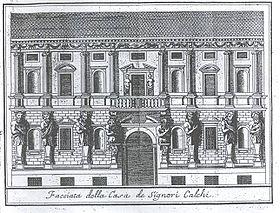 Leone Leoni's Casa degli Omenoni, from Serviliano's Descrizione di Milano, 1738].