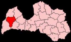 Kuldīga District - Image: Latvia Kuldiga