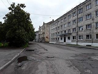 Polessk Town in Kaliningrad Oblast, Russia