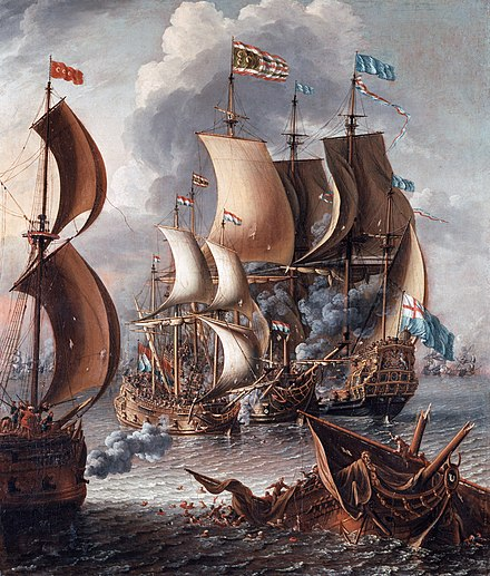 A Sea Fight with Barbary Corsairs by Laureys a Castro, c. 1681 Laureys a Castro - A Sea Fight with Barbary Corsairs.jpg