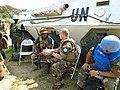 Le Commandant Adjoint de la Force de la MONUSCO, le Général Bernard Commins reçoit le point de situation sur les opérations militaires à Semuliki.jpg