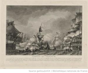 Yves-Marie Le Gouaz - Ship Combat – Le Vengeur by Yves-Marie Le Gouaz, 1800
