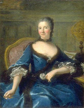Marianne Loir - Portrait de Emilie Le Tonnelier de Breteuil, marquise du Châtelet c. 1748